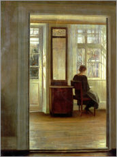 Gallery print  Lady in an interior - Carl Holsøe