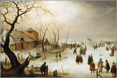 Wall sticker  A winter landscape with figures on the ice - Hendrick Avercamp