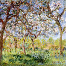 Gallery Print  Spring at Giverny - Claude Monet