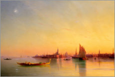 Aluminium print  Sunset in the bay of Venice - Ivan Konstantinovich Aivazovsky