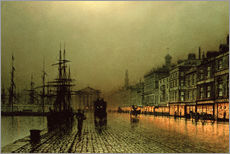 Wall sticker  Greenock Dock by Moonlight - John Atkinson Grimshaw