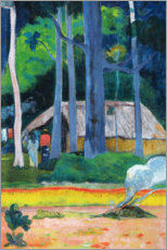 Canvas print  Hut in the Trees - Paul Gauguin