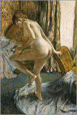 Wall Stickers  After the bath - Edgar Degas
