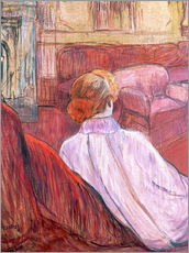 Wall sticker  Woman Seated on a Red Settee - Henri de Toulouse-Lautrec