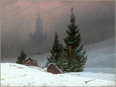 Gallery print  Winter Landscape with a Church - Caspar David Friedrich