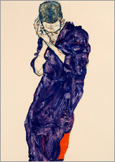 Wall sticker  Youth with violet frock - Egon Schiele
