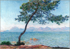 Wood print  The esterel mountains - Claude Monet