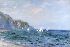 Wall sticker  Rocks and sailing boats in Pourville - Claude Monet
