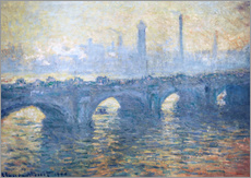 Gallery print  River Thames in London, Waterloo Bridge - Claude Monet
