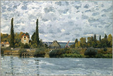 Wall sticker  The Seine at Bougival - Alfred Sisley