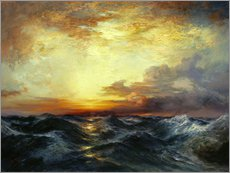 Gallery print  Sunset over the Pacific, 1907 - Thomas Moran