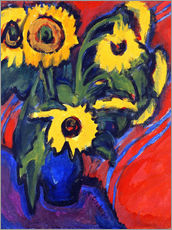 Wall sticker  Sunflowers - Ernst Ludwig Kirchner