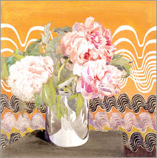 Wall sticker  Peonies - Charles Rennie Mackintosh