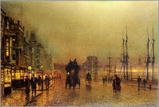 Wall sticker  Glasgow - John Atkinson Grimshaw