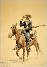 Wall Stickers  A Mounted Infantryman, 1890 - Frederic Remington