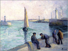 Wall sticker  The fishermen at the dock - Maximilien Luce
