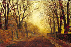 Wall sticker  Night in Gold, 1872 - John Atkinson Grimshaw
