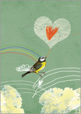 Wall sticker  valentines vogel 2 - Sabrina Tibourtine
