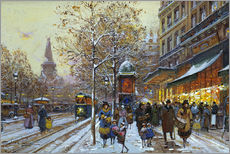 Gallery print  Place de la Republique, Paris - Eugene Galien-Laloue