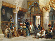 Gallery print  Arabic Figures in a Coffee House - Carl Friedrich Heinrich Werner