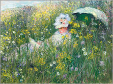 Gallery Print  In the Meadow - Claude Monet