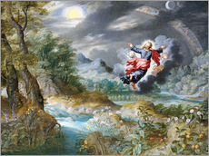 Gallery Print  God creating the sun, the moon and the stars in the Firmament - Jan Brueghel d.Ä.