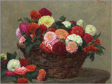 Wall Stickers  Basket of dahlias, 1893 - Henri de Fantin-Latour