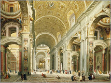 Gallery print  Interior of St. Peter's Basilica, looking west to the tomb of St. Peter's - Giovanni Paolo Pannini