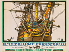 Wood print  H.M.S. Victory, Portsmouth - Kenneth Shoesmith