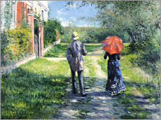 Gallery print  The Path Uphill - Gustave Caillebotte