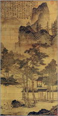 Gallery print  Scene from Hermits' long days in the quiet mountains - Tang Yin