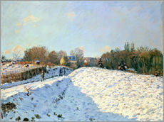 Wall sticker  Snow at Argenteuil - Alfred Sisley