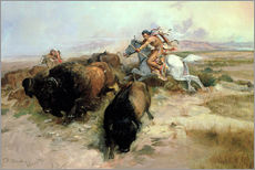 Wall Stickers  Buffalo Hunt, 1897 - Charles Marion Russell