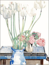 Wall sticker  White tulips - Charles Rennie Mackintosh