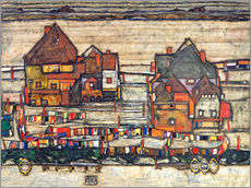 Wall Sticker  Houses with colorful laundry - Egon Schiele