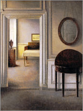 Wall sticker  Interior with a mirror - Vilhelm Hammershøi