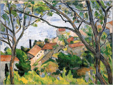 Gallery print  View of L'Estaque Through the Trees - Paul Cézanne