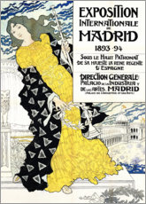 Aluminium print  International exhibition about Madrid - Eugene Grasset