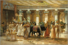 Wall sticker  The Procession of the Holy Bull in Apis, 1879 - Frederick Arthur Bridgman