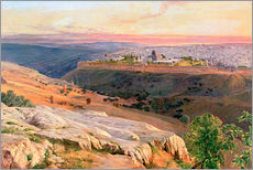 Wall sticker  Jerusalem from the Mount of Olives - Edward Lear