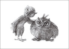 Wall Stickers  Two Owls - Stan & Oliver - Stefan Kahlhammer