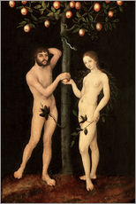 Wall sticker  Adam and Eve - Lucas Cranach d.Ä.