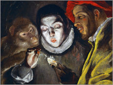 Wall sticker  Ape, boy lighting a candle and man - Dominikos Theotokopoulos (El Greco)