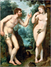 Gallery print  Adam and Eve under the Tree of Knowledge - Peter Paul Rubens