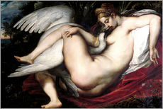 Wall sticker  Leda and the Swan - Peter Paul Rubens
