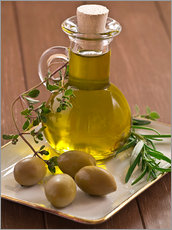 Wall sticker  Olive oil and olives - Edith Albuschat