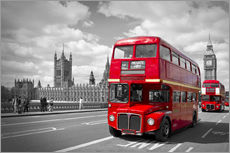 Wall sticker  Westminster Bridge and Red Buses - Melanie Viola