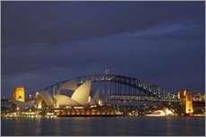 Gallery Print  Sydney Opera House and Harbour Bridge - David Wall