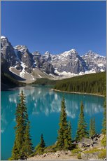 Wall sticker  Moraine Lake in the mountain valley - Paul Thompson