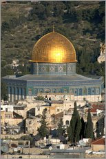 Wall sticker  Jerusalem and the Dome of the Rock - David Noyes